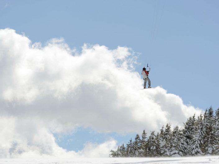 Snowkite au Mézenc