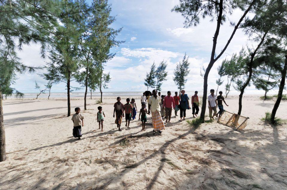 Sur le littoral du golfe du Bengale